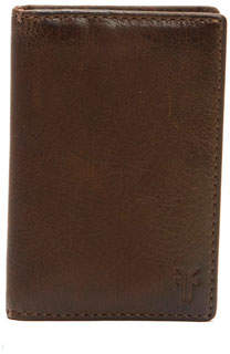 Frye Oliver Tall Leather Bi-Fold Wallet, Brown