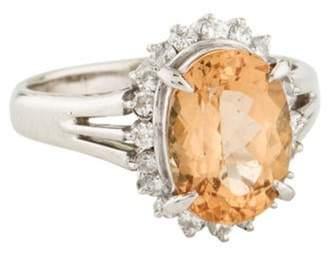 Ring Platinum Topaz & Diamond orange Platinum Topaz & Diamond