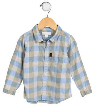 Burberry Boys' Plaid Button-Up Shirt