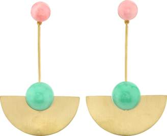 Irene Neuwirth JEWELRY Pink Opal And Chrysoprase Drop Earrings