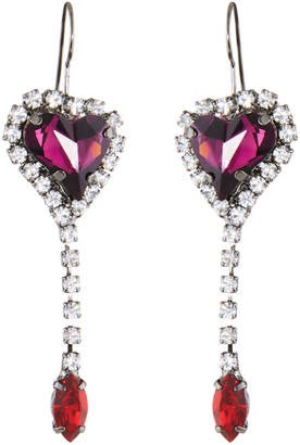 Swarovski Tova Crystal Heart Drop Earrings