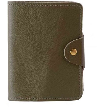 N'damus London Luxury Italian Leather Olive Green Passport Cover