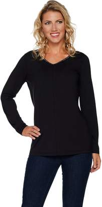 Belle By Kim Gravel Belle by Kim Gravel TripleLuxe Long Sleeved Top w/ Sparkle