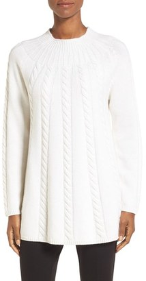 Women's Nordstrom Collection Cashmere Cable Knit A-Line Pullover $379 thestylecure.com