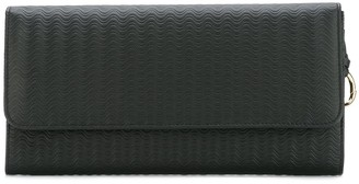 Zanellato embossed fold-over clutch
