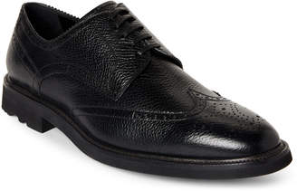Dolce & Gabbana Black Leather Wingtip Derby Oxfords