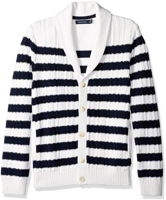 Nautica Men's Breton Stripe Cardigan