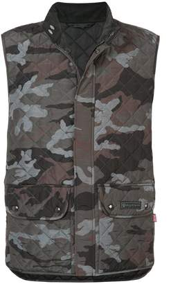 Belstaff quilted camouflage gilet