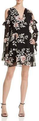 GUESS Luba Cold Shoulder Floral Dress $98 thestylecure.com