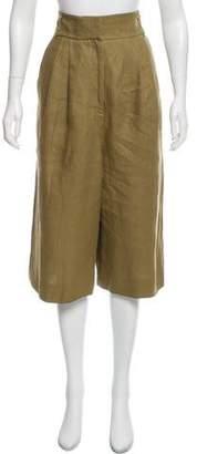 Tibi Linen High-Rise Culottes