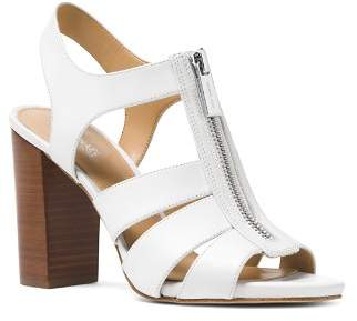 MICHAEL Michael Kors Women's Damita Leather Zip High-Heel Sandals