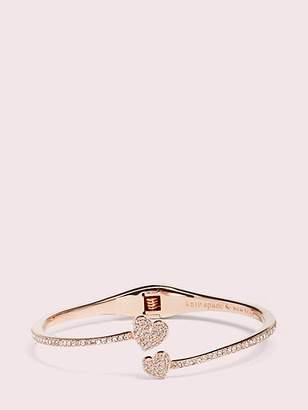 Kate Spade Yours truly pave open hinge cuff