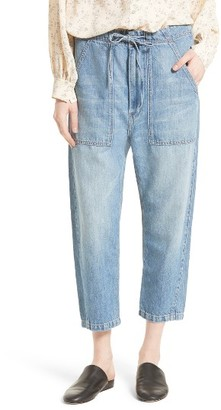 Women's Vince Denim Utility Pants $275 thestylecure.com