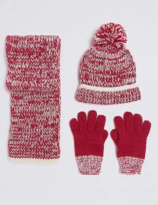 Marks and Spencer Kids' Hat & Scarf with Gloves Set