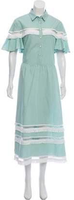 Lela Rose Printed Maxi Dress w/ Tags