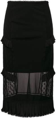 McQ high waisted midi skirt