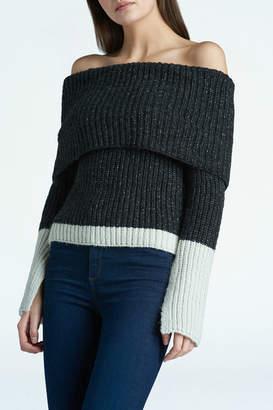 Press Colorblock off shoulder Sweater