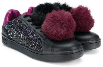 Geox Kids pom pom sneakers