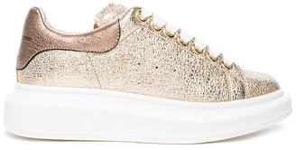 Alexander McQueen Leather Platform Sneakers $575 thestylecure.com