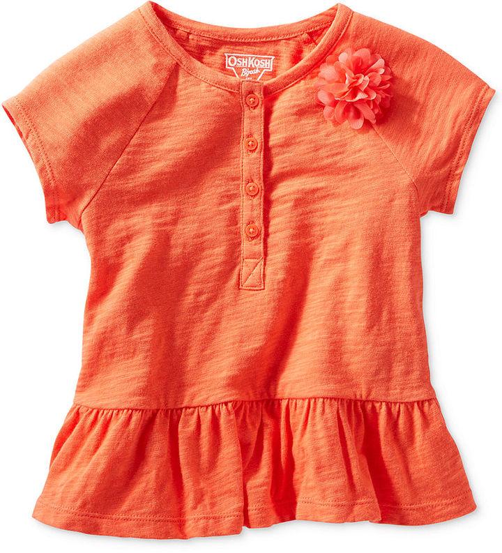 Osh Kosh Little Girls' Rosette-Applique Peplum Top