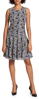 Tommy Hilfiger Paisley Lace Sleeveless Fit-and-Flare Dress