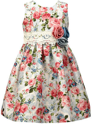 Jayne Copeland Floral & Lace Sash Dress
