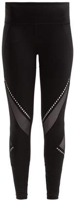 Track & Bliss - Get In The Ring Mesh Panel Leggings - Womens - Black