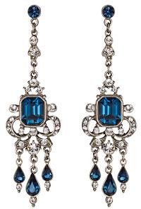 Ben-Amun Ben Amun Blue Swarovski Crystal Drop Earrings