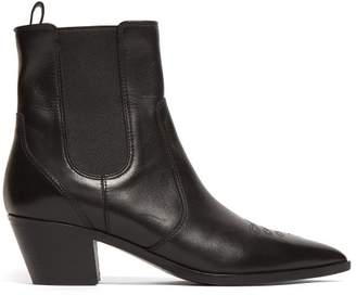 Gianvito Rossi Western Leather Ankle Boots - Womens - Black