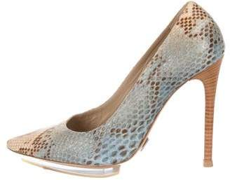 Michael Kors Snakeskin Pointed-Toe Pumps