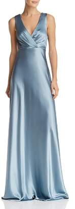 Jill Stuart Bow-Back Satin Gown