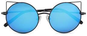 Matthew Williamson Round-Frame Metal Mirrored Sunglasses