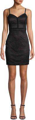 GUESS Velvet-Trimmed Lace Bodycon Dress