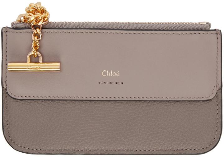 Chloé Chloé Grey Joe Card Holder