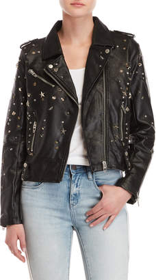 Blank NYC Blanknyc Faux Leather Studded Moto Jacket
