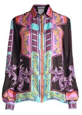 Versace Harajuku Print Silk Shirt
