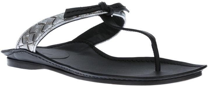 Bottega Veneta t-bar sandal
