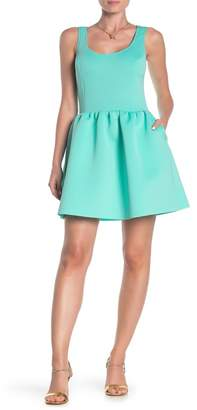Love...Ady Sleeveless Fit & Flare Scuba Dress