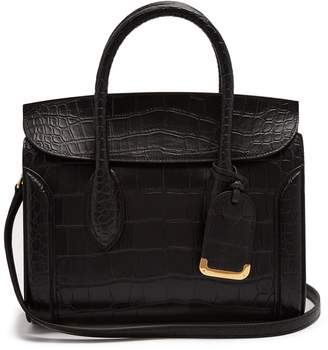 Alexander McQueen Heroine crocodile-effect leather tote