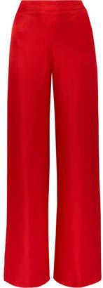 Brandon Maxwell Silk-twill Wide-leg Pants - Red