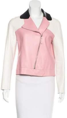 Longchamp Colorblock Leather Jacket