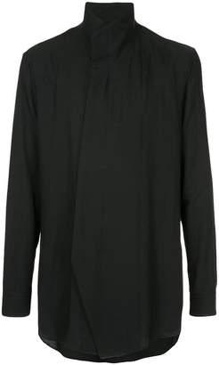 Julius asymmetric-front oversized shirt