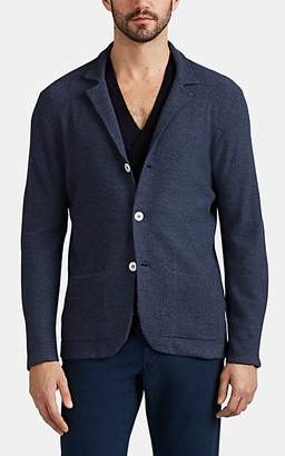 ab2ba43795 Isaia Men s Honeycomb-Knit Wool Cardigan - Navy