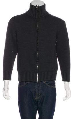 Gucci Chunky Knit Zip-Up Sweater