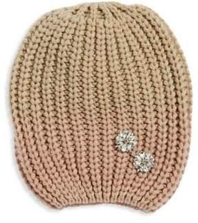 Echo Knit Embellished Beanie