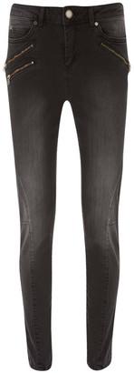 Mint Velvet Phoenix Black Biker Jean