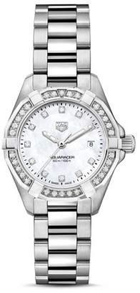 Tag Heuer Aquaracer Diamond Bezel Watch, 27mm