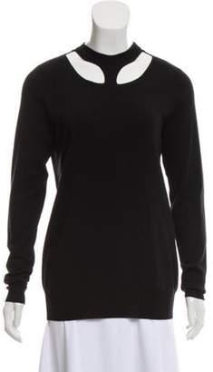 Celine Céline Medium-Weight Wool Sweater Black Céline Medium-Weight Wool Sweater