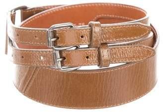 Dries Van Noten Patent Leather Waist Belt