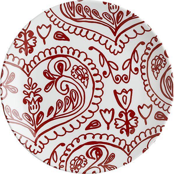 """Crate & Barrel Valentine 8"""" Plate"""